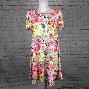 Pastel Floral LuLaRoe Carly Hi Low Dress Small